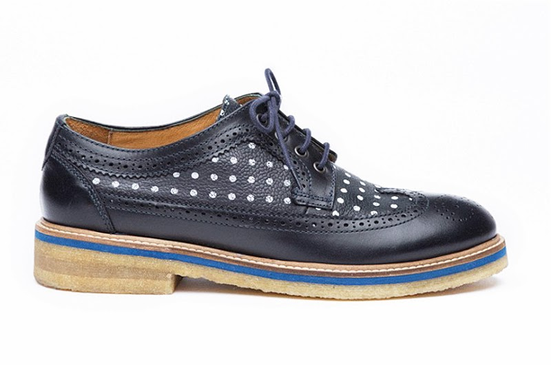 Soulland black polka dot shoes, black derby footwear, SS14 menswear, Danish menswear designer, Australia mens blog