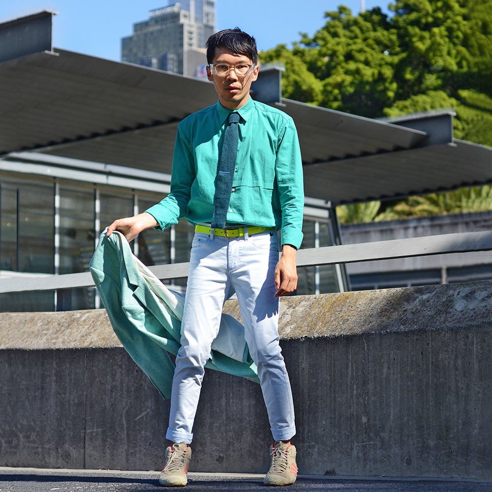Seafoam green shirt