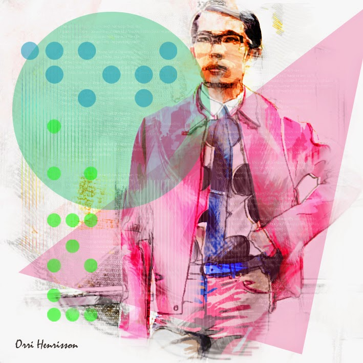 mens fashion illustration, fashion graphic design, Lanvin pink jacket, mens polka dot shirt, Australia menswear blog, blue belt