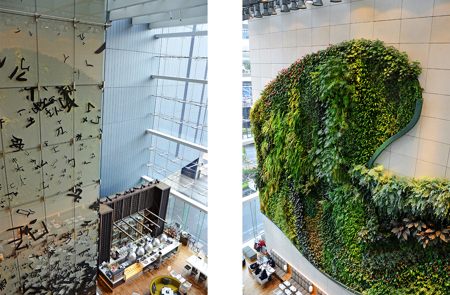 Hotel Icon Hong Kong, Australia travel blog, indoor vertical garden
