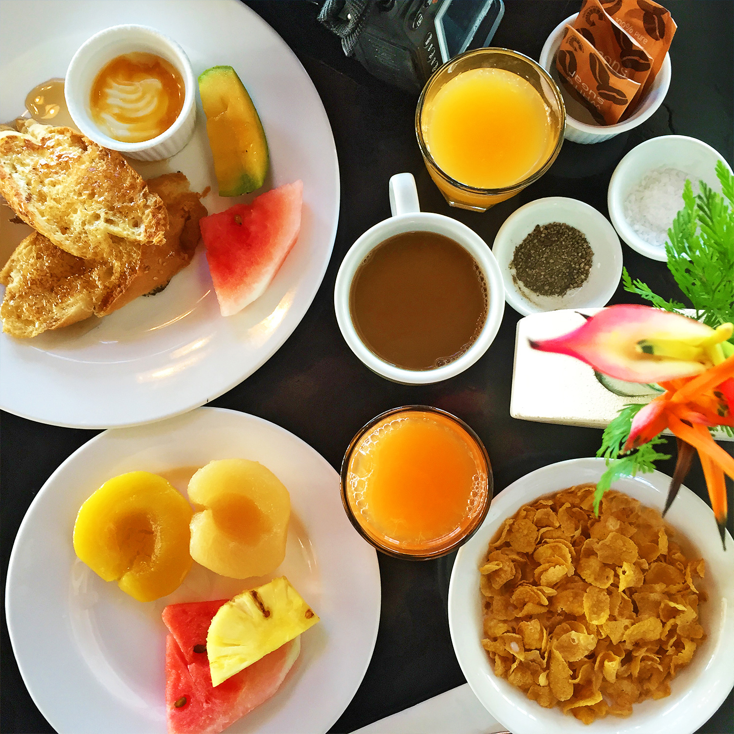Pearl South Pacific Resort breakfast, Fiji, Australian travel blog