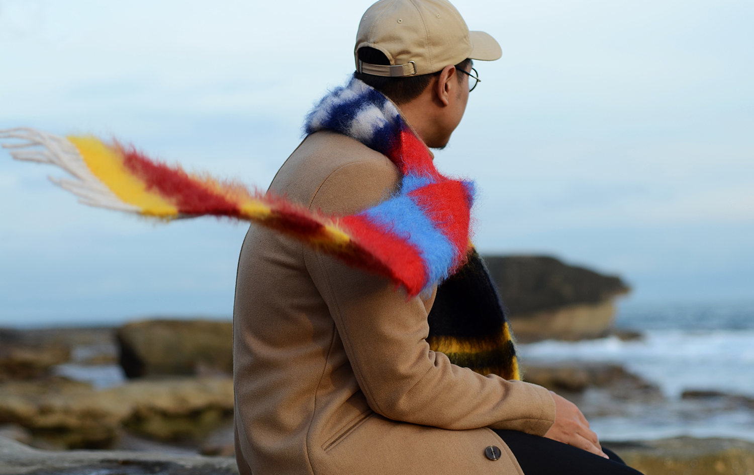 Mean Take Me, NSFW, Loewe mens scarf, Topman camel coat, Australia mens blog, hip hop fashion