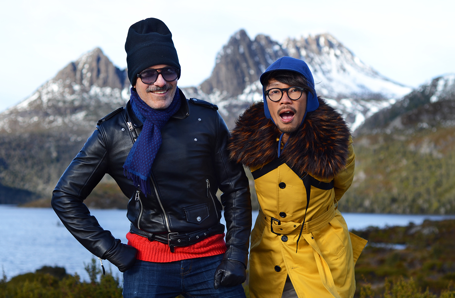 Cradle Mountain, Lake St Clair National Park, Fifth highest mountain in Tasmania, Dries Van Noten mens fur collar, Burberry mens mustard yellow coat, Jean Paul Gaultier leather biker jacket, Australia premium travel blog