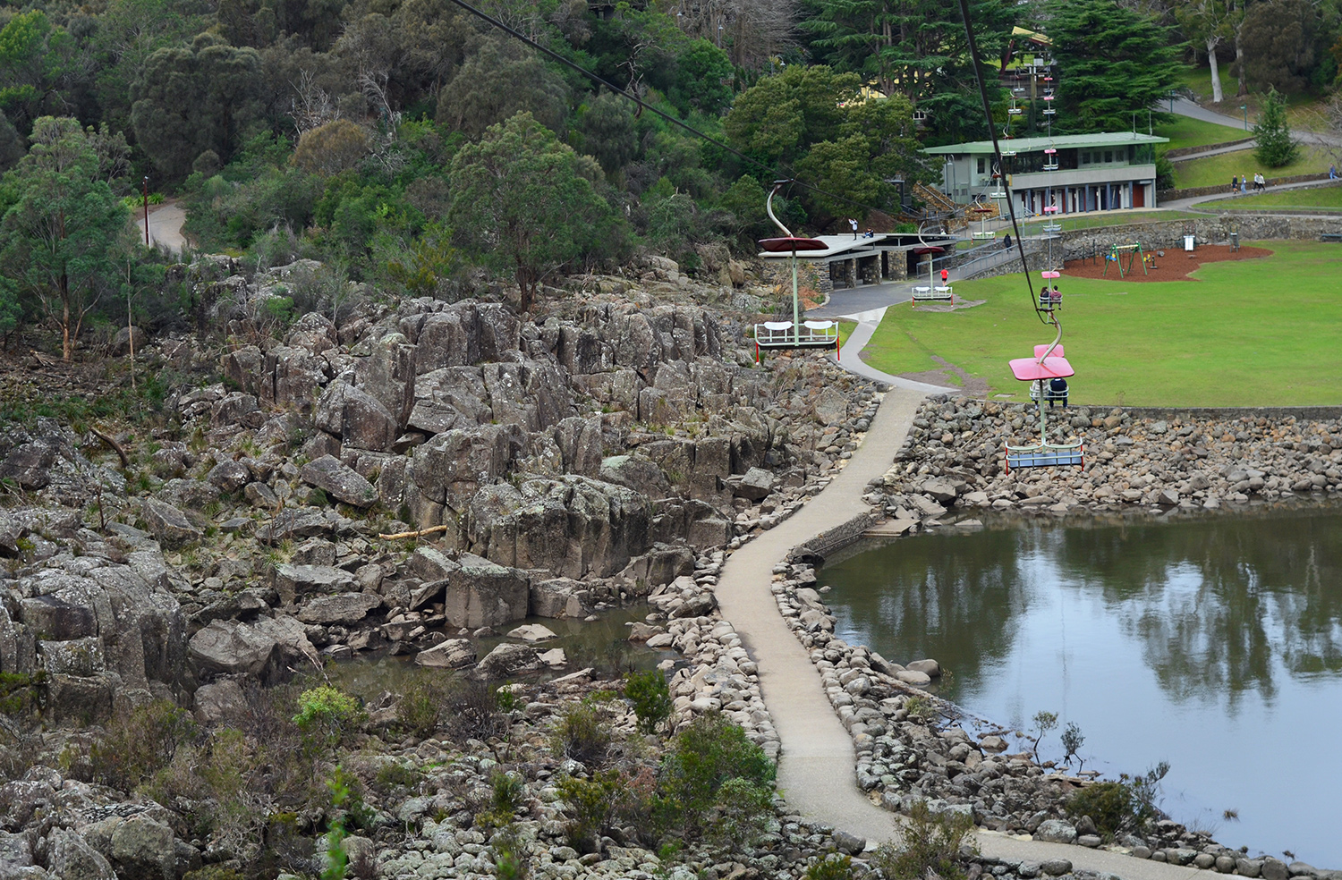 Cataract Gorge Reserve chairlift, things to do in Launceston Tasmania, Australia premium travel blog