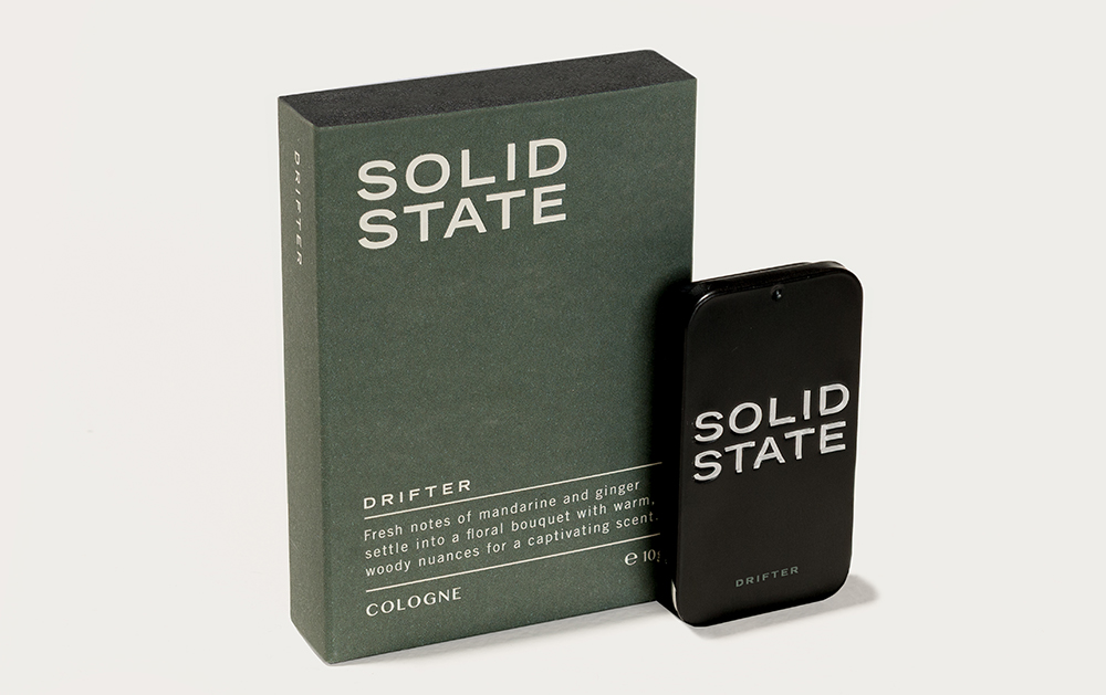 Solid State For Men, mens fragrance, Australia mens blog, Drifter