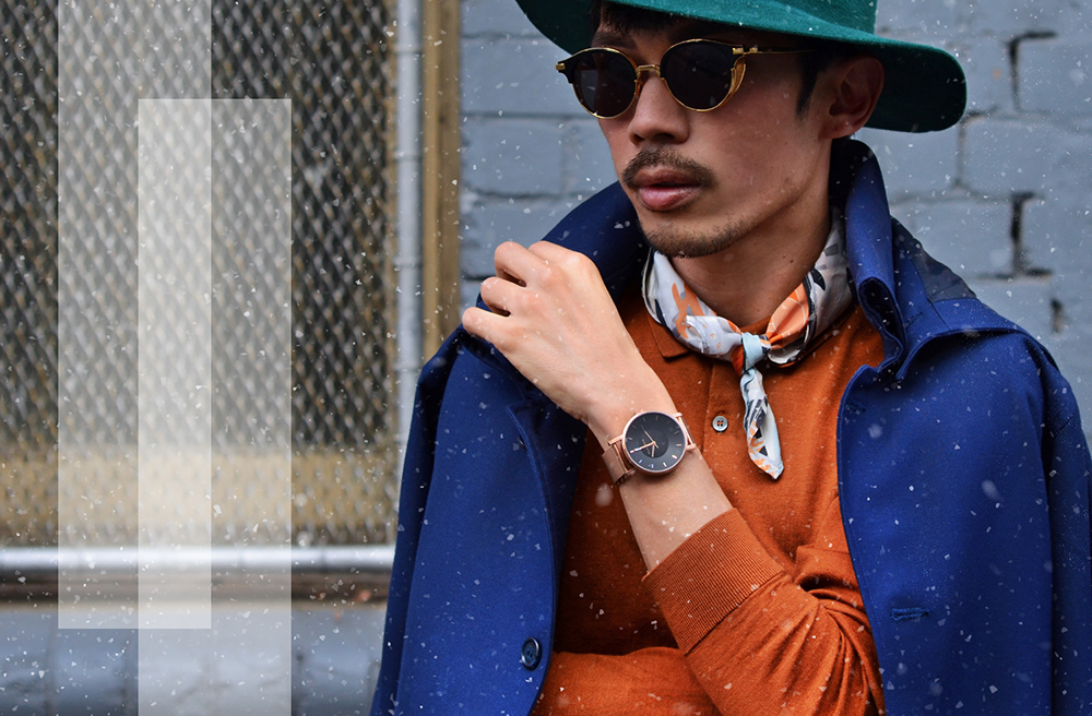 Klasse 14 mens watches, Burberry Prorsum SS15 green runway hat, COS mens polo shirt, Gentle Monster erok sunglasses,