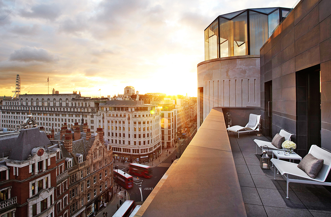 ME Hotel Terrace, Hotels to stay during London Fashion Week