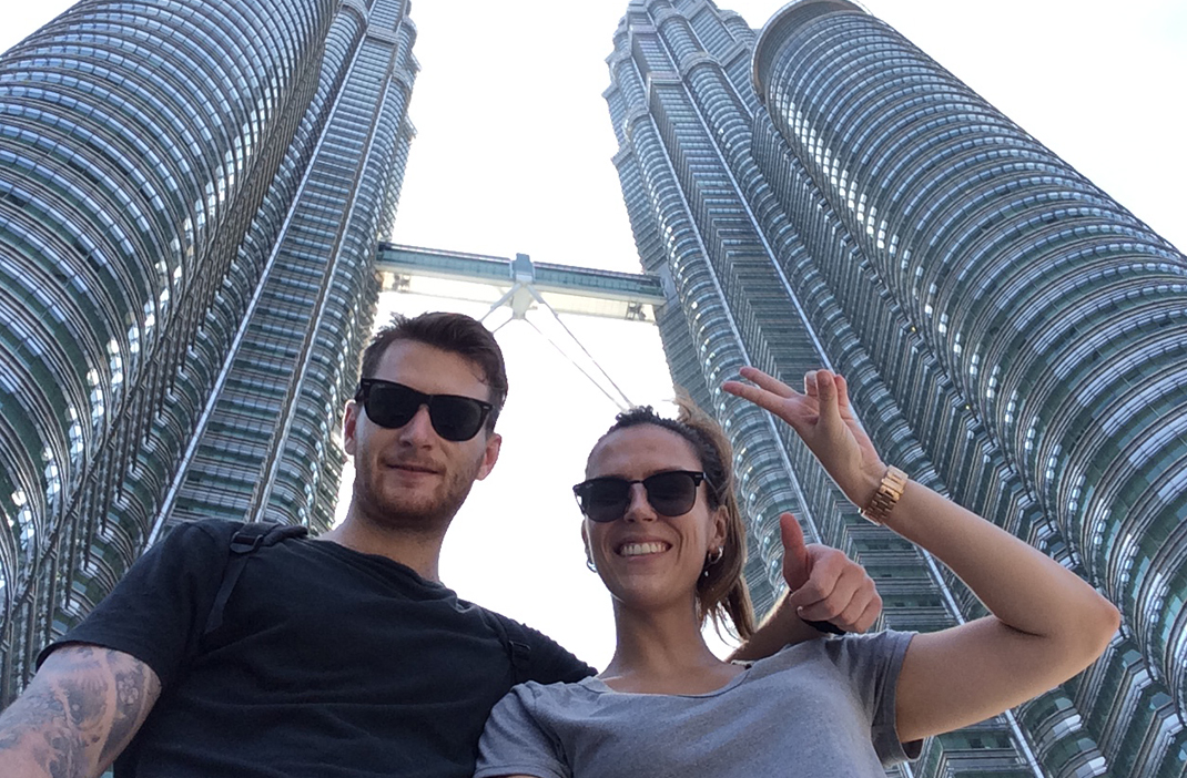 Petronas Twin Towers, how to survive travelling as a couple
