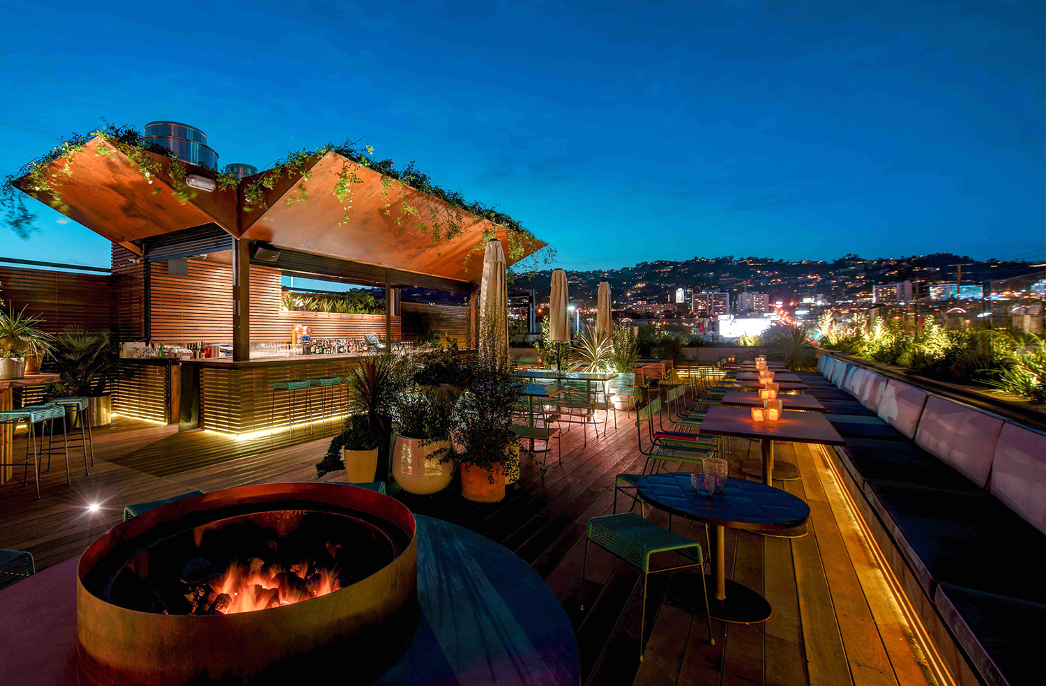 LP Rooftop bar West Hollywood