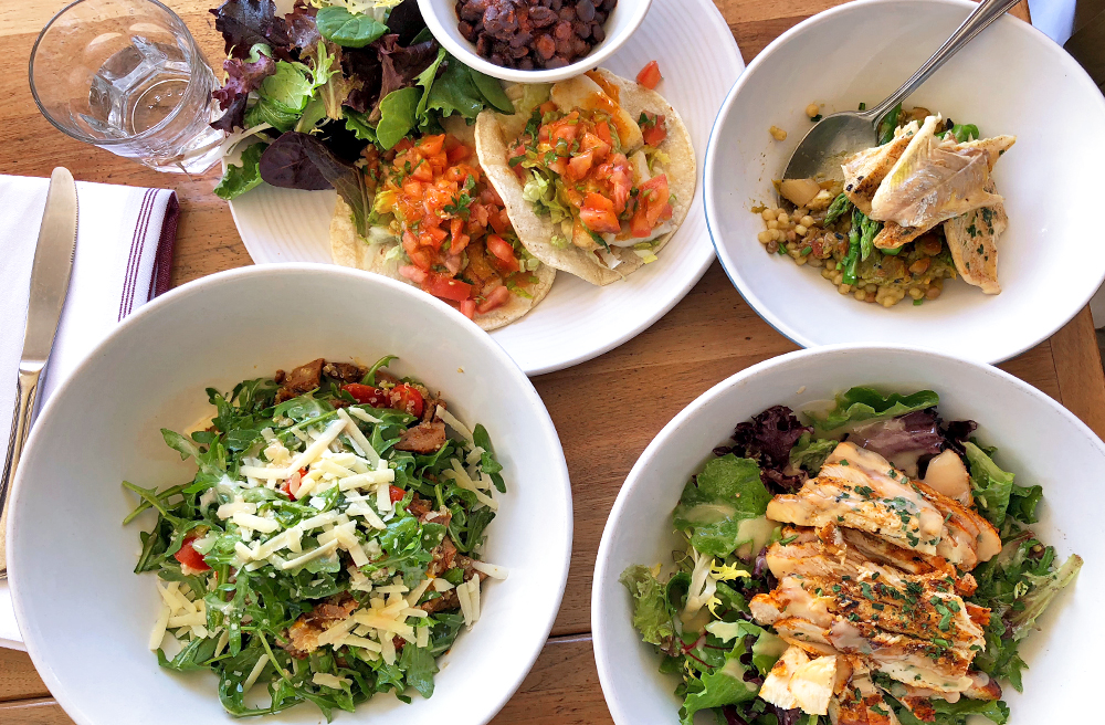 Hedley's lunch, West Hollywood Restaurant, chicken salad, tacos