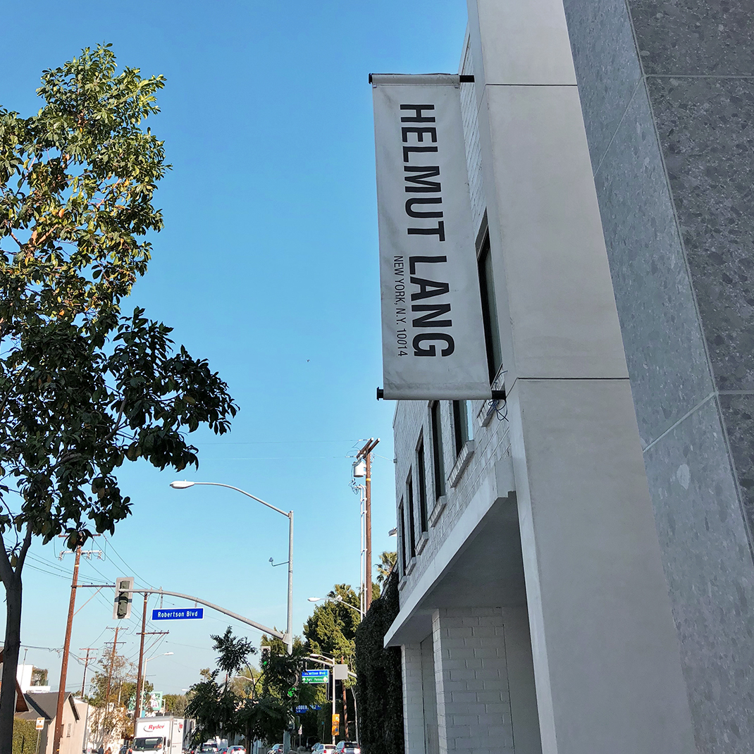 Helmut Lang LA, West Hollywood luxury menswear store