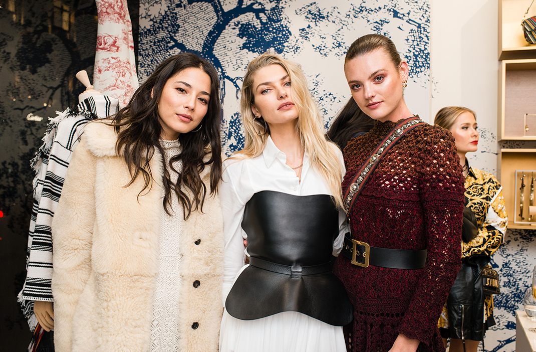 Dior Cruise 2019 Sydney pop-up store launch, Jessica Gomes, Jess Hart